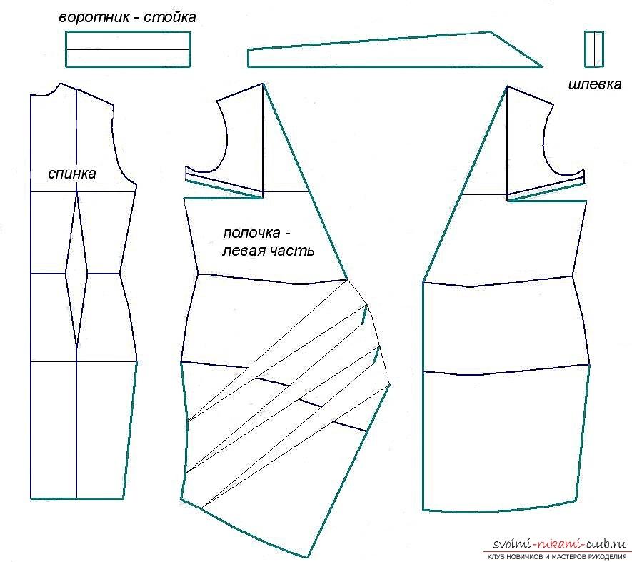 Как сшить платье с запахом своими руками для начинающих выкройки