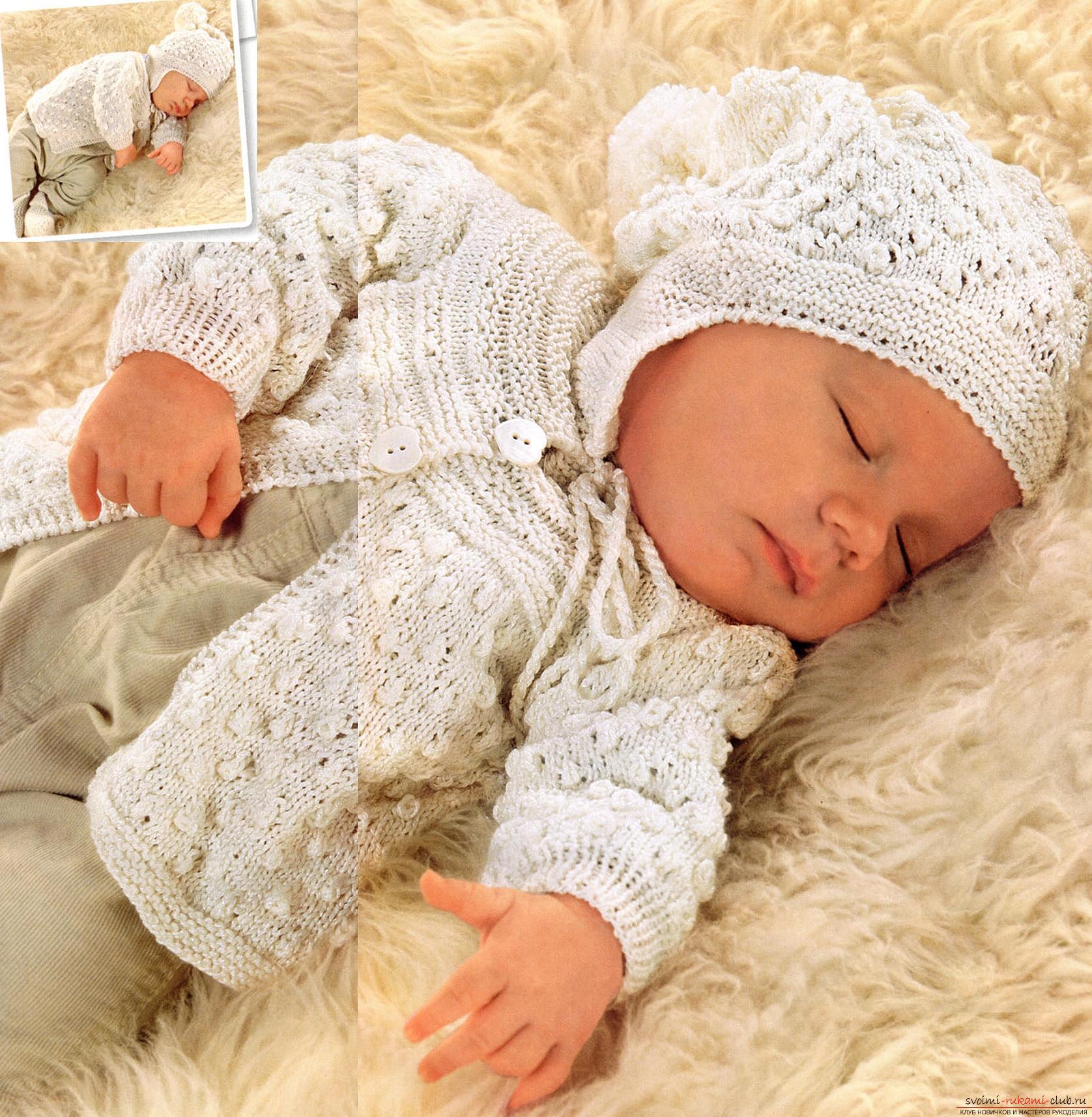 Универсальный набор одежды для новорожденной девочки. Фото №3