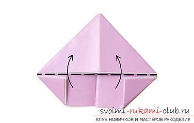 Как сделать лебедя оригами при помощи бумаги. своими руками и бесплатно.. Фото №7