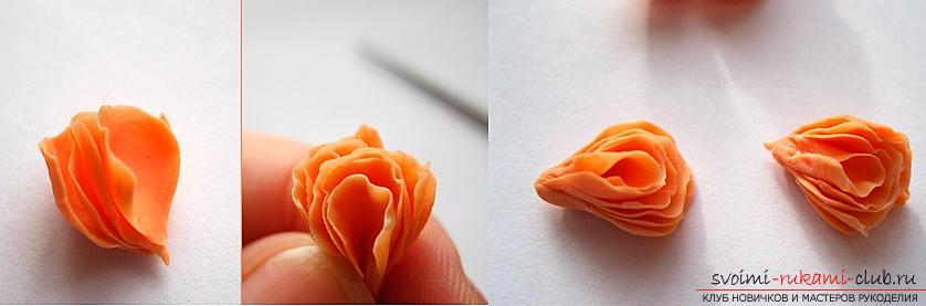 Как слепить розу из полимерной глины, мастер класс с подробным описанием и фото