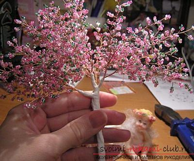 Как сплести сакуру из бисера, подробные мастер классы с пошаговыми фото и описанием.. Фото №41