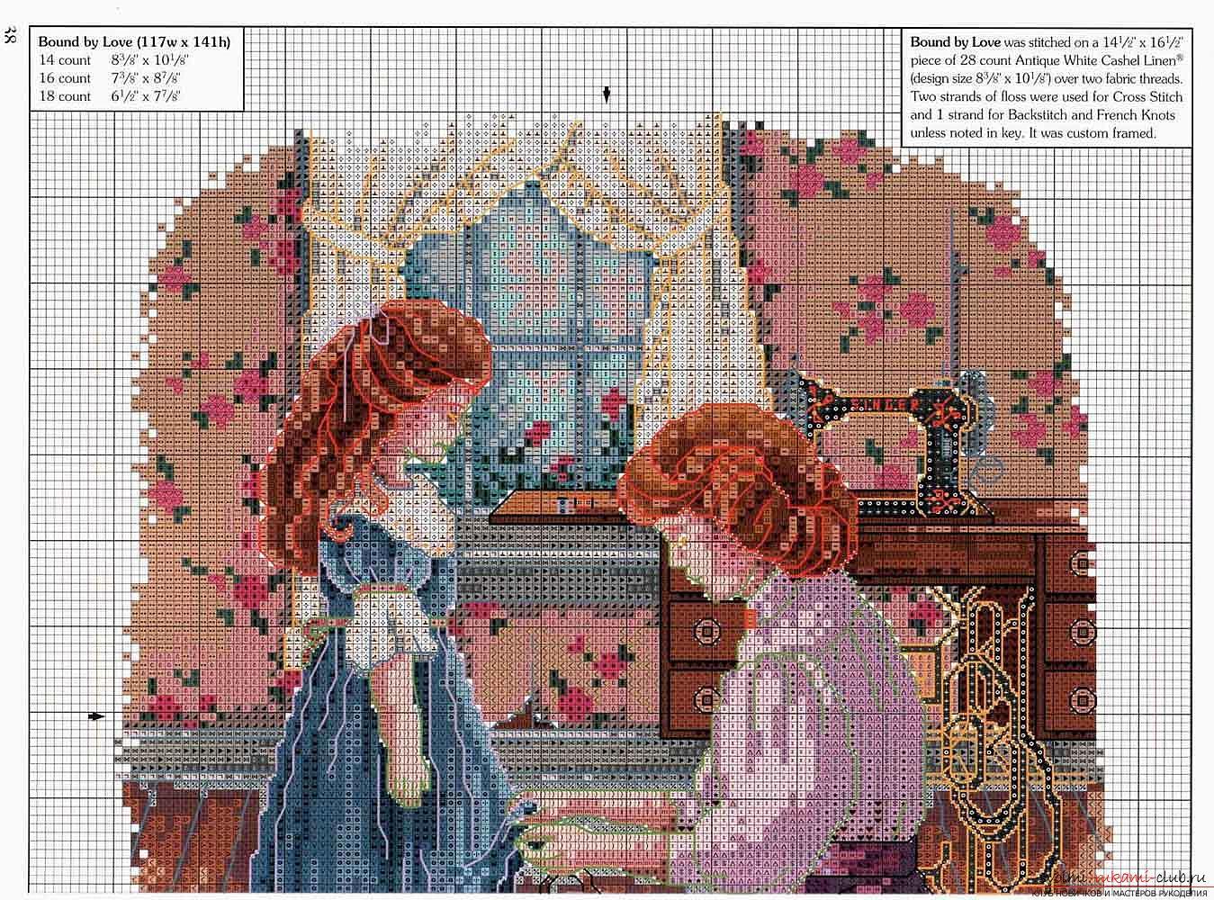 Схема вышивки больших картин