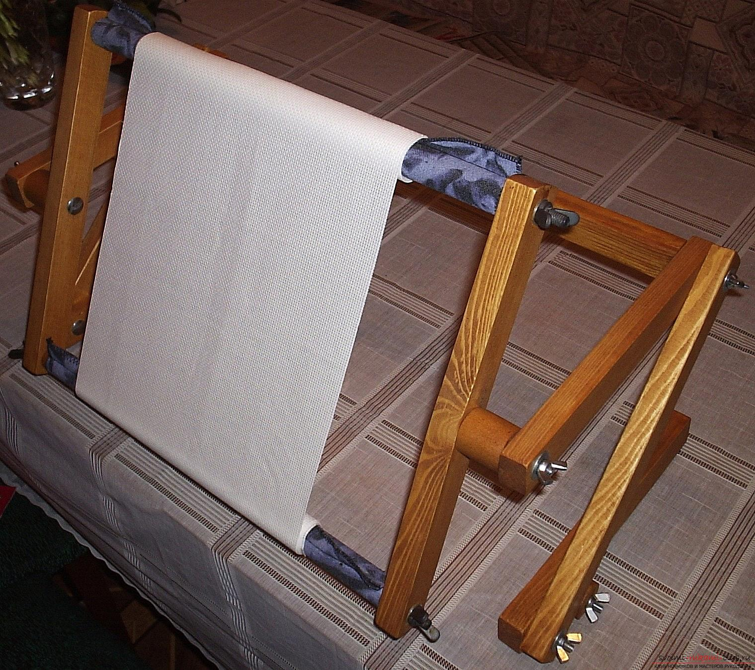 Рамка для вышивки может быть изготовлена