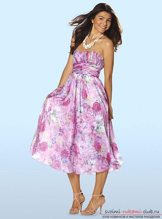 выкройки летних платьев Бурда, примеры из журнала, бесплатно. Фото №5