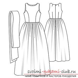 выкройки летних платьев Бурда, примеры из журнала, бесплатно. Фото №3