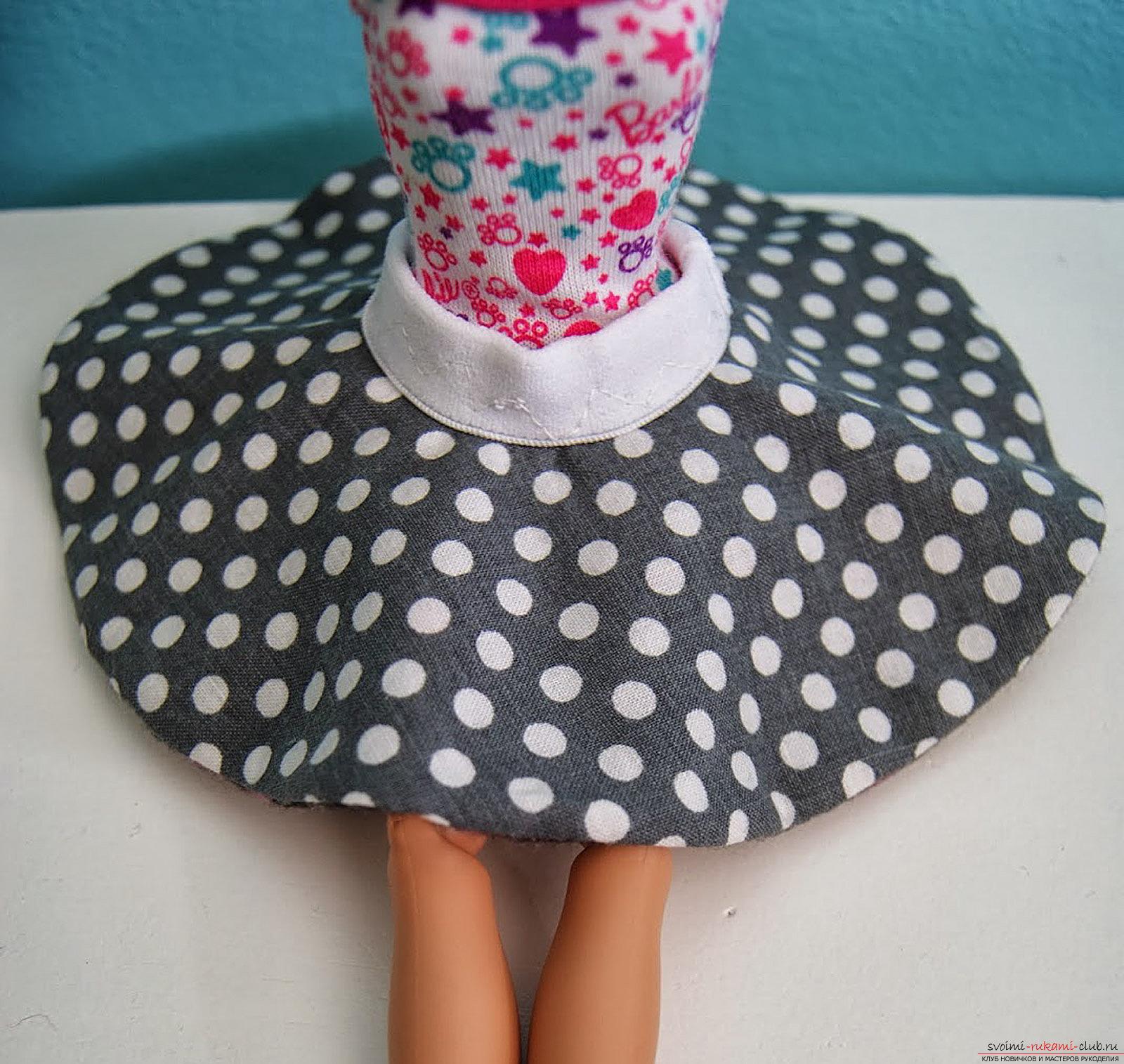 Юбка для куклы барби из резинок