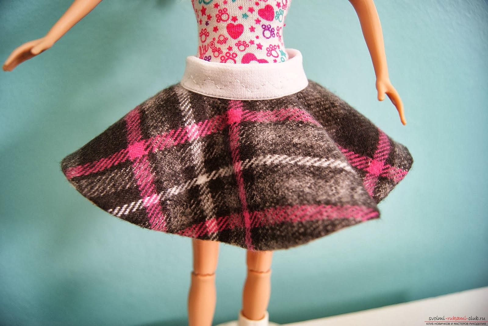 Сшить юбку на барби