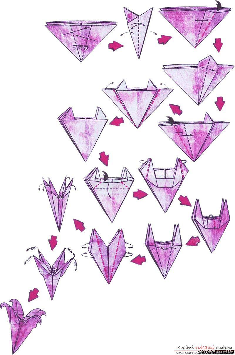 схема ваоентинки оригами