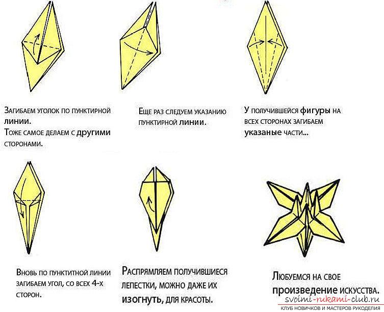 Схема сборки цветка лилии