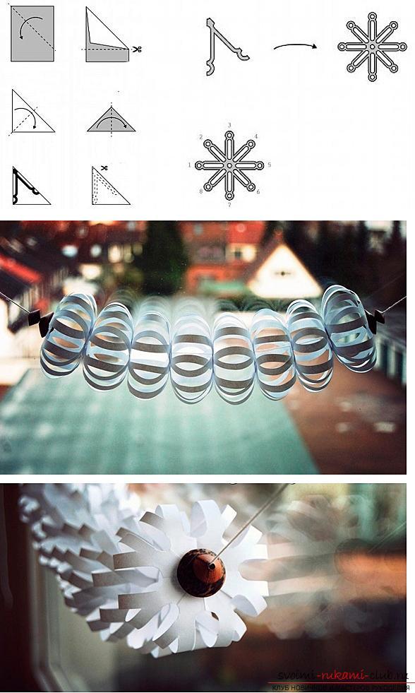 Как сделать новогодние гирлянды из бумаги. Фото №3