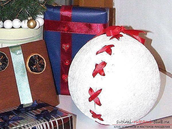 Как сделать волшебные новогодние шары из ниток. Фото №5