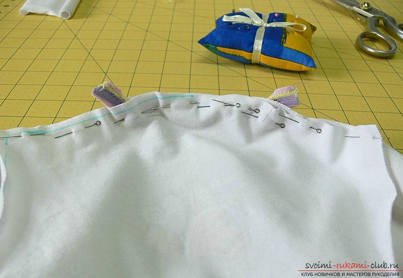 Выкройка и пошив боди для новорожденного малыша. Фото №10