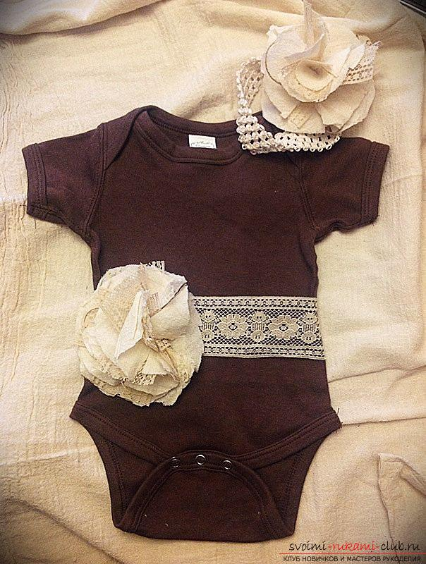 Выкройка и пошив боди для новорожденного малыша. Фото №1