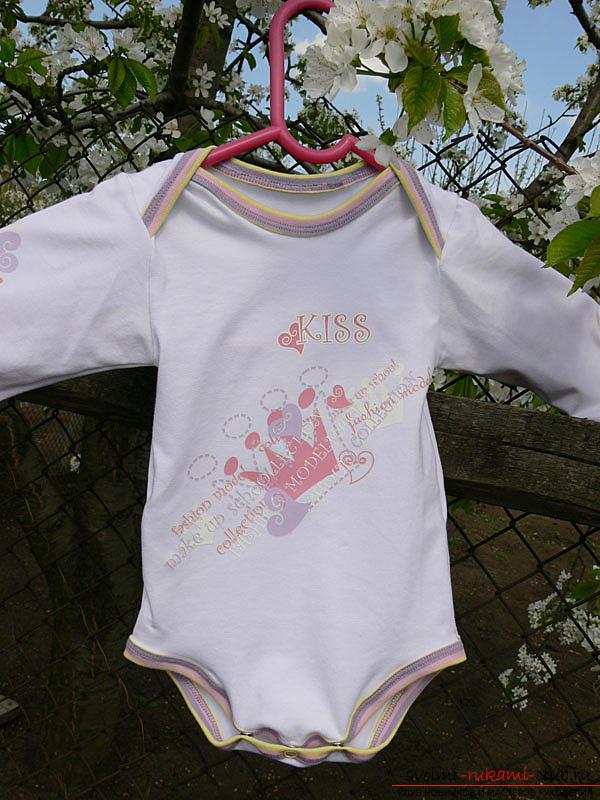 Выкройка и пошив боди для новорожденного малыша. Фото №18