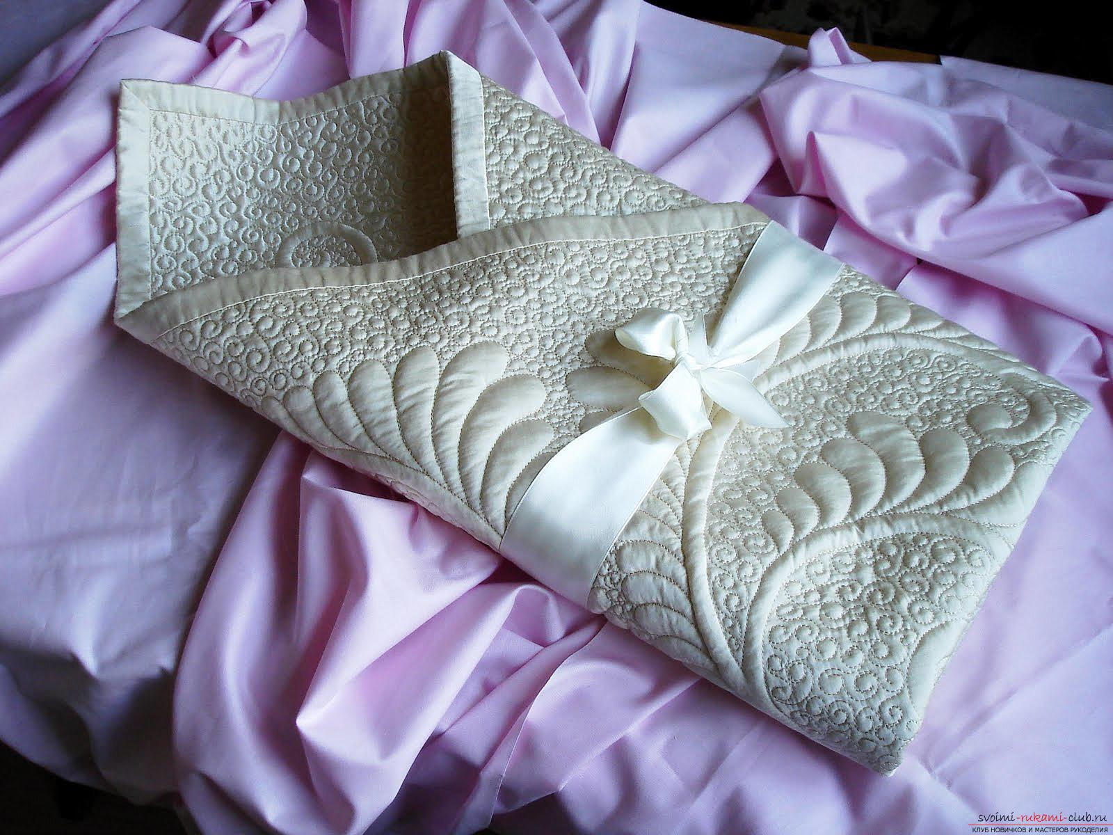 Как сшить красивый конверт для новорожденного ребенка. Фото №1