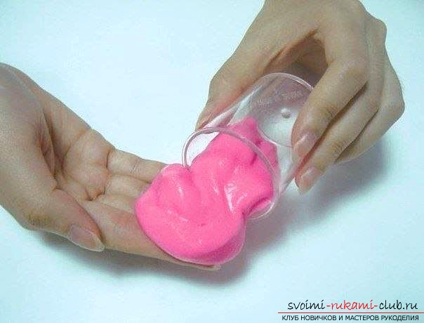 Интересная игрушка для детей, лизун-своими руками. Фото №1