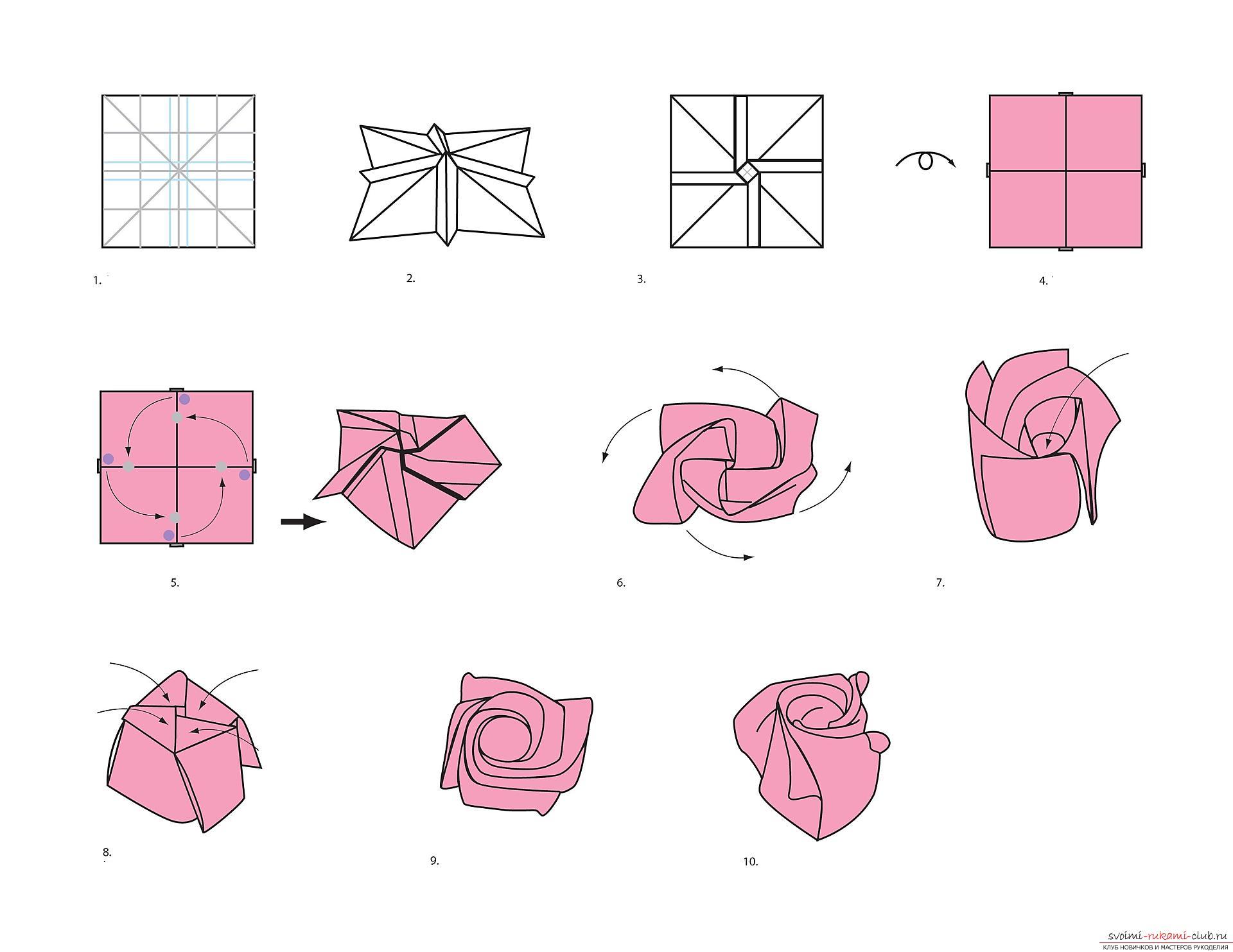 Схемы поделок модульного оригами из бумаги