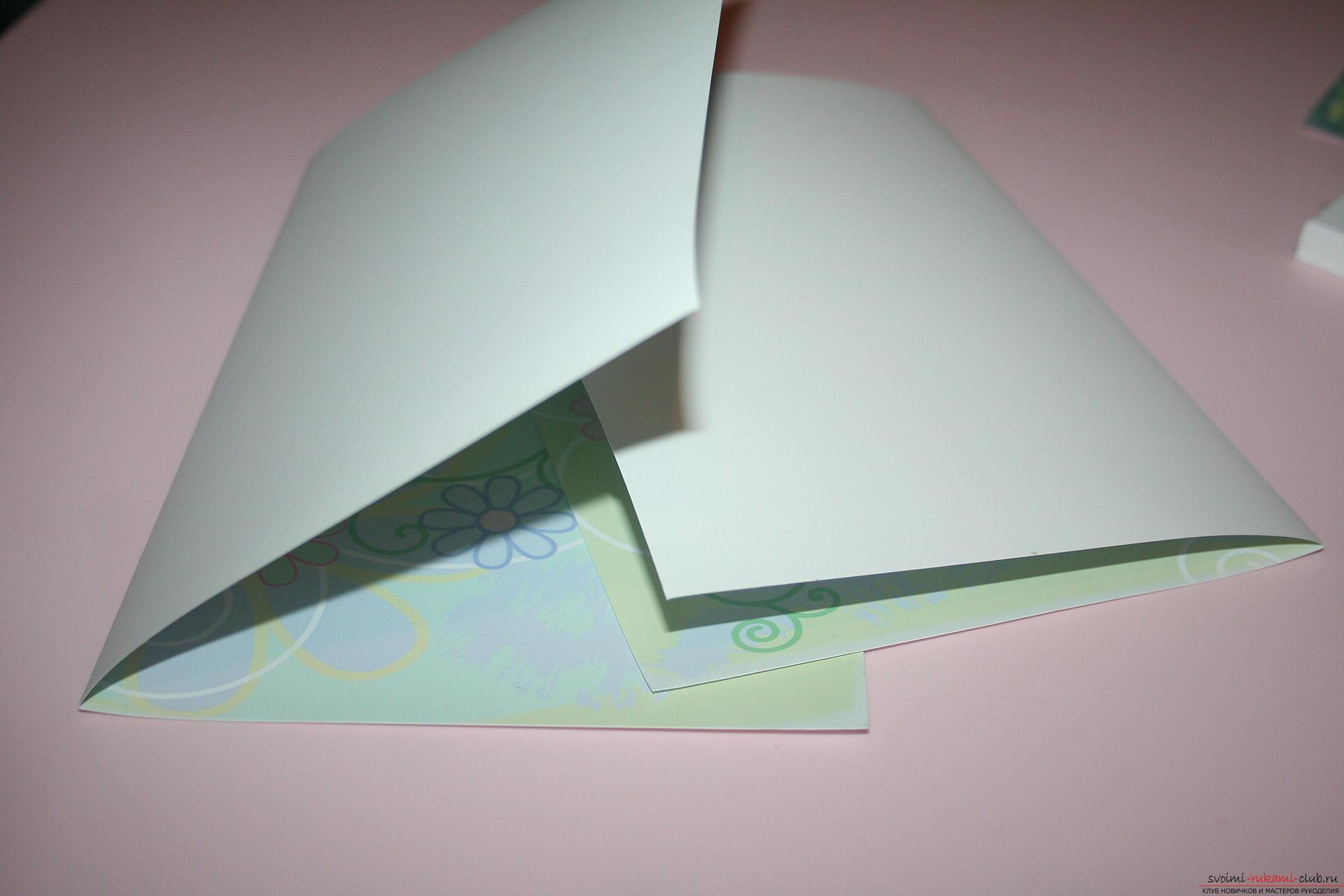 Новогодняя поделка: зеленый блокнот в