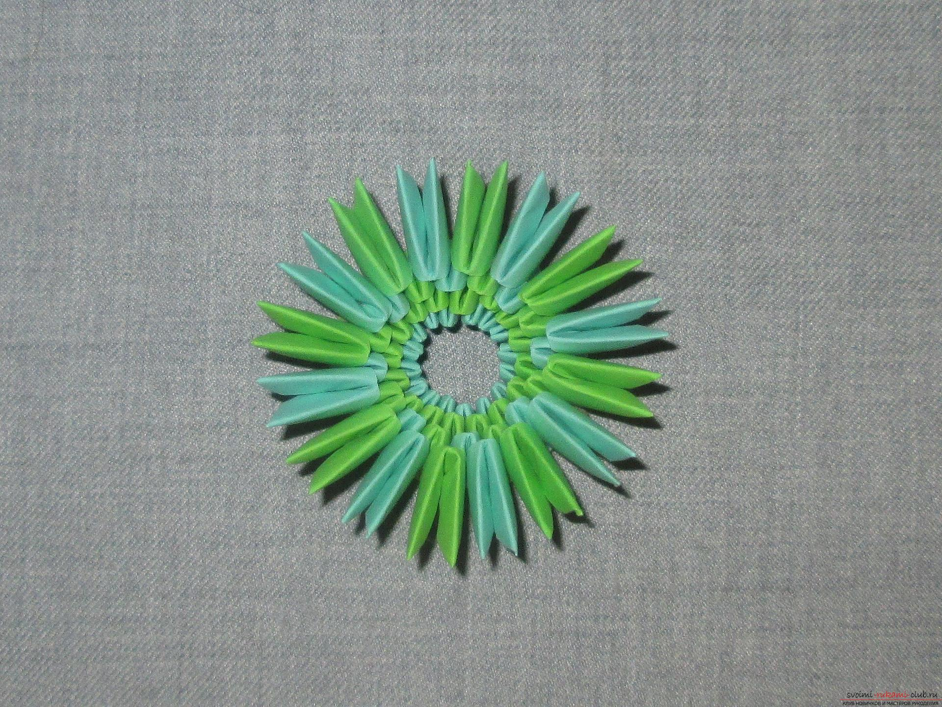 модульное оригами сн еговик схема
