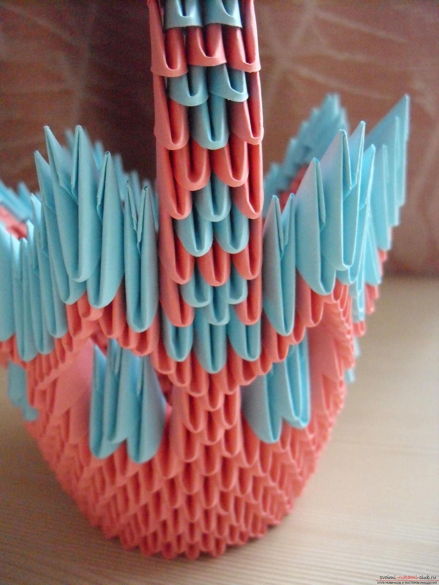 Этот пошаговый мастер-класс с инструкцией модульного оригами научит как сделать корзинку с лилиями.. Фото №15