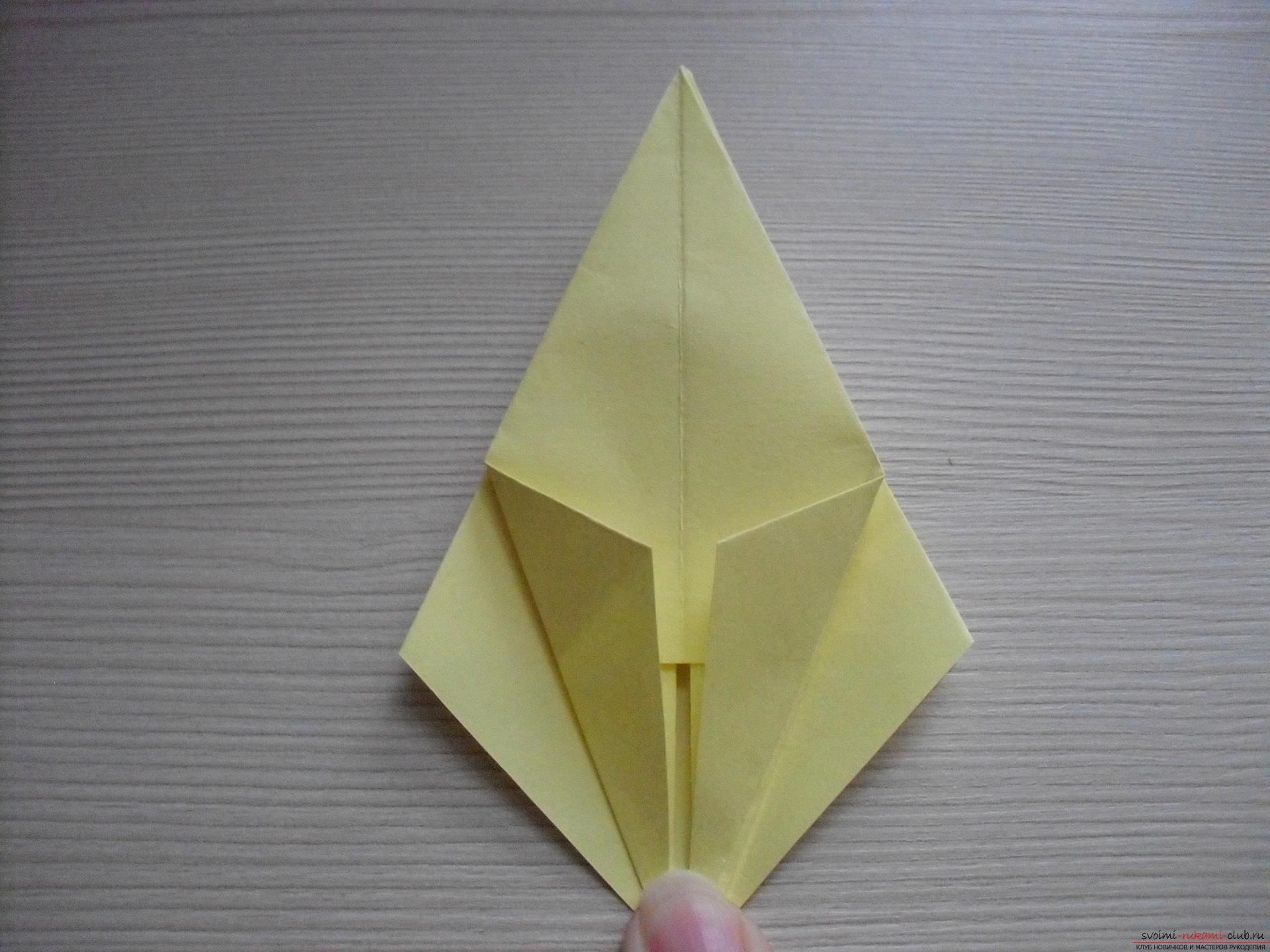 Этот пошаговый мастер-класс с инструкцией модульного оригами научит как сделать корзинку с лилиями.. Фото №30