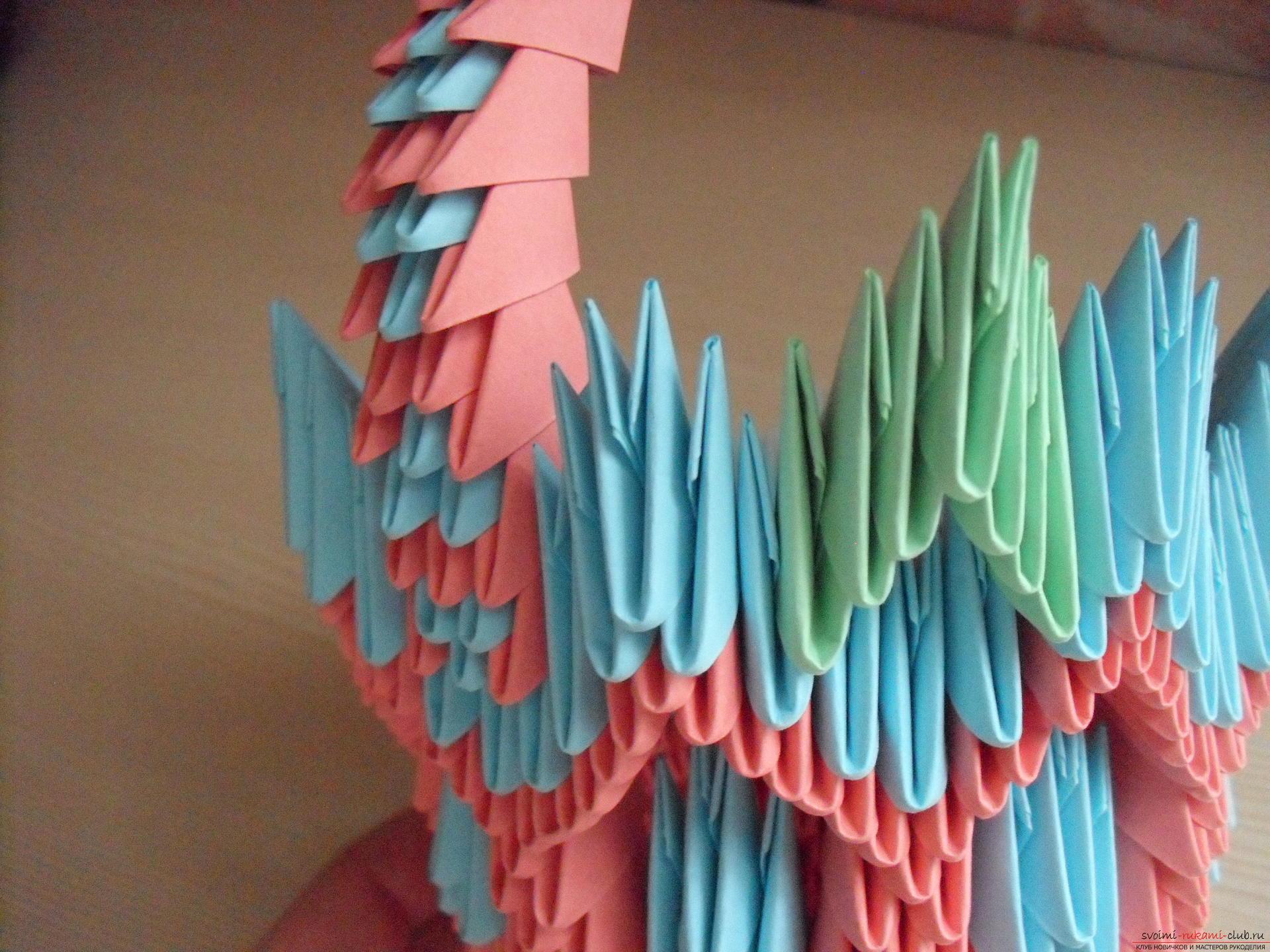 Этот пошаговый мастер-класс с инструкцией модульного оригами научит как сделать корзинку с лилиями.. Фото №19
