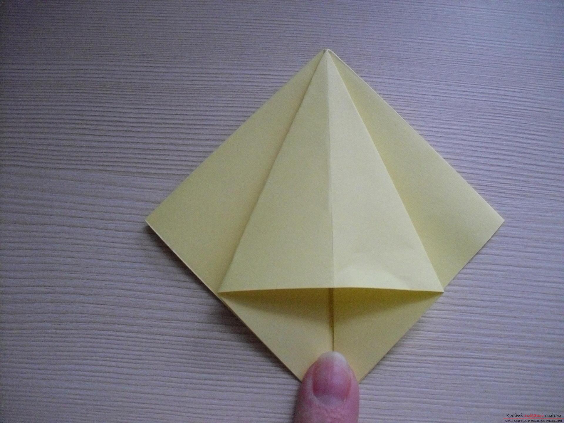 Этот пошаговый мастер-класс с инструкцией модульного оригами научит как сделать корзинку с лилиями.. Фото №28