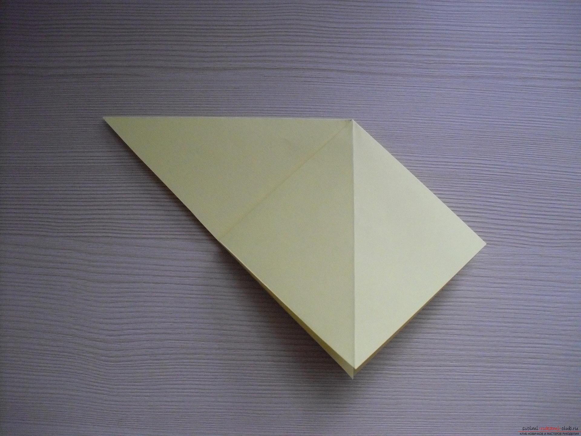 Этот пошаговый мастер-класс с инструкцией модульного оригами научит как сделать корзинку с лилиями.. Фото №25