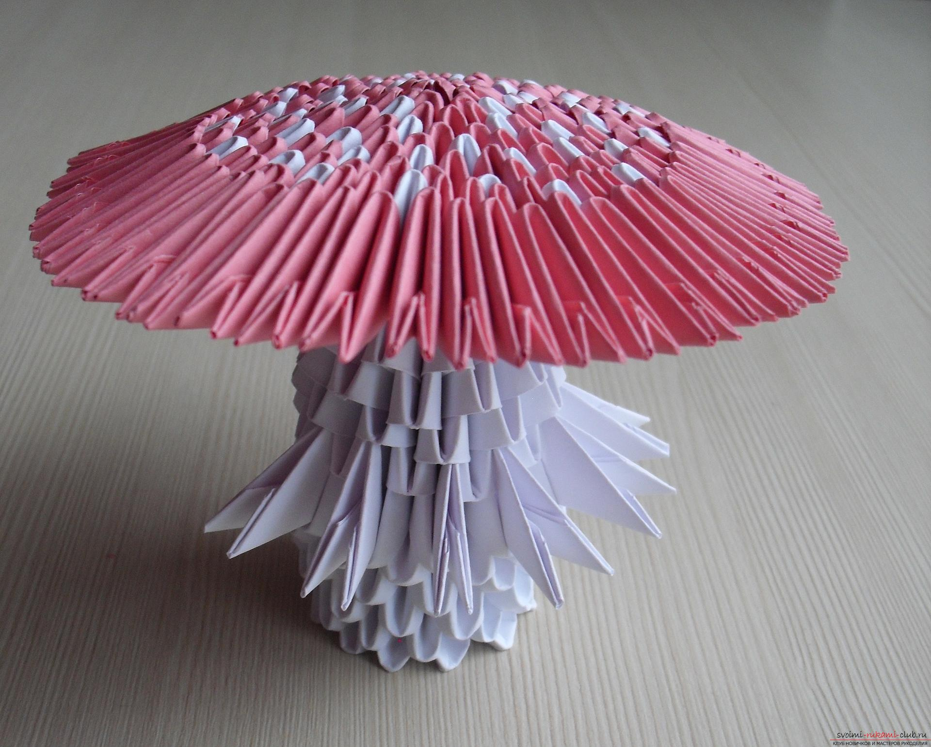 Оригами гриб мухомор схема
