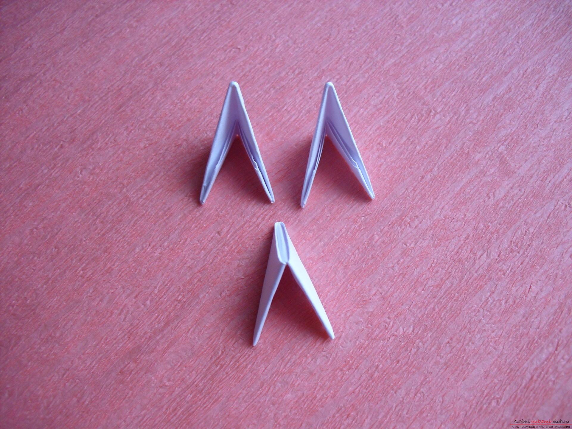 поделка самолет модульное оригами схема сборки