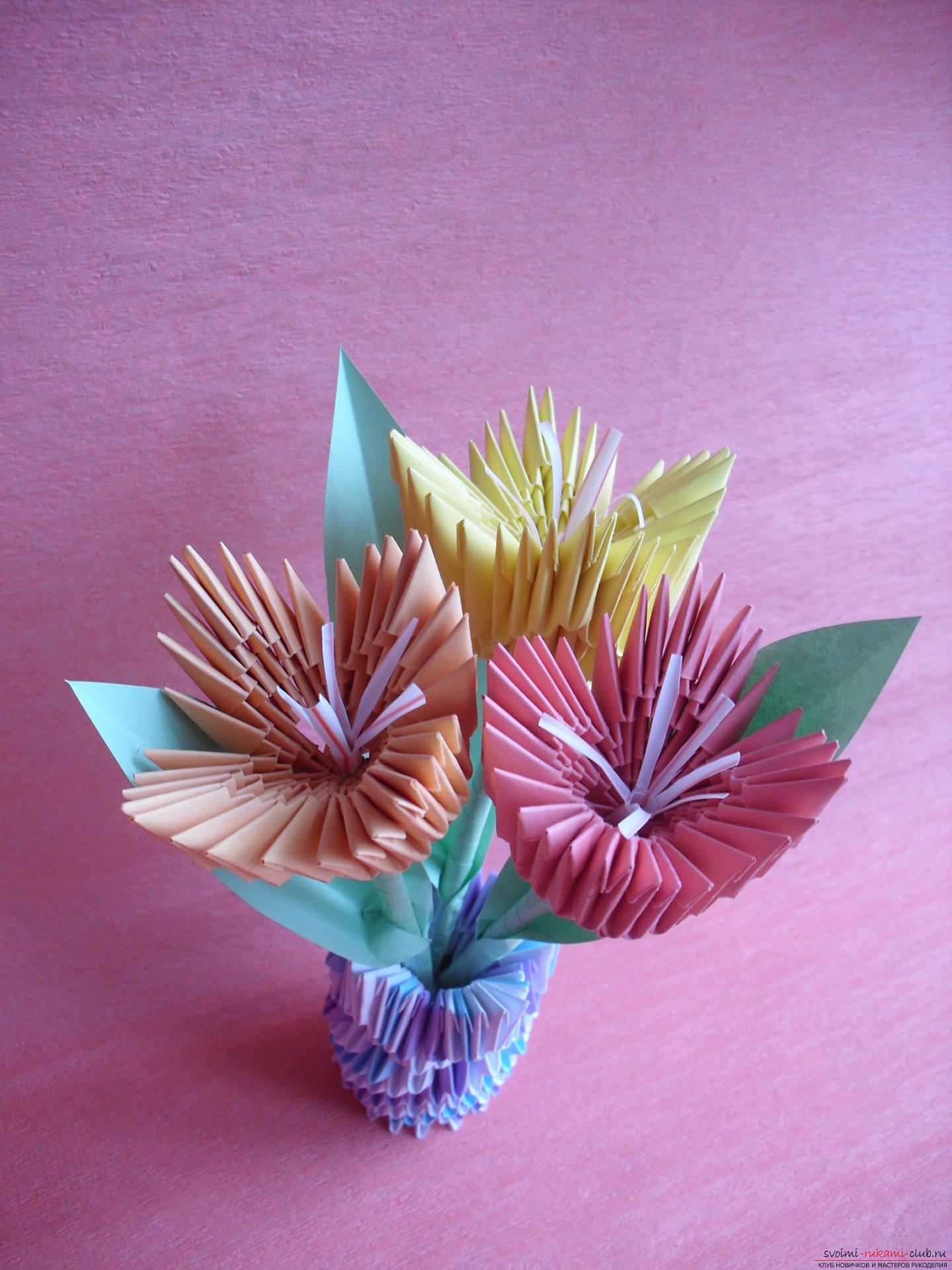 Модульный цветок фото схемы