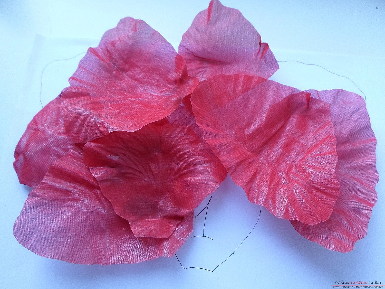 Цветы из ткани своими руками для 88