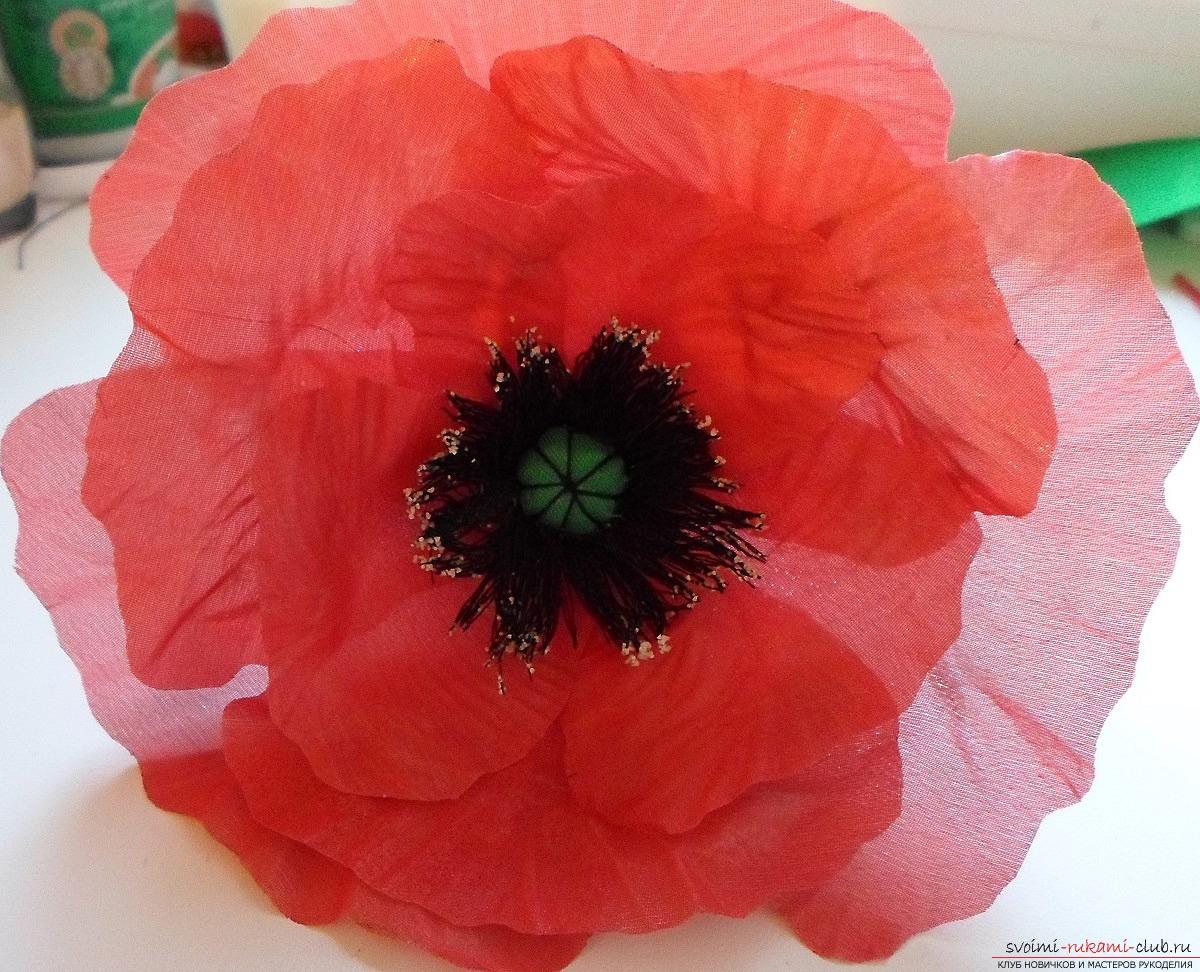 Цветы из ткани своими руками для 54