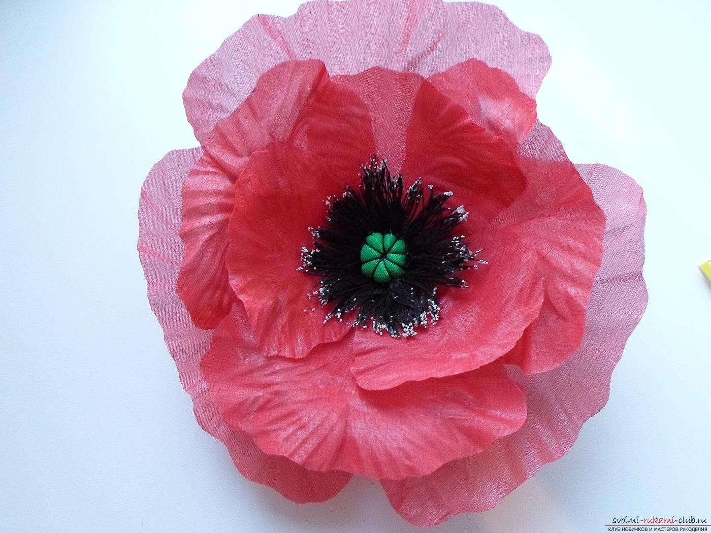 Цветы из ткани своими руками для 44