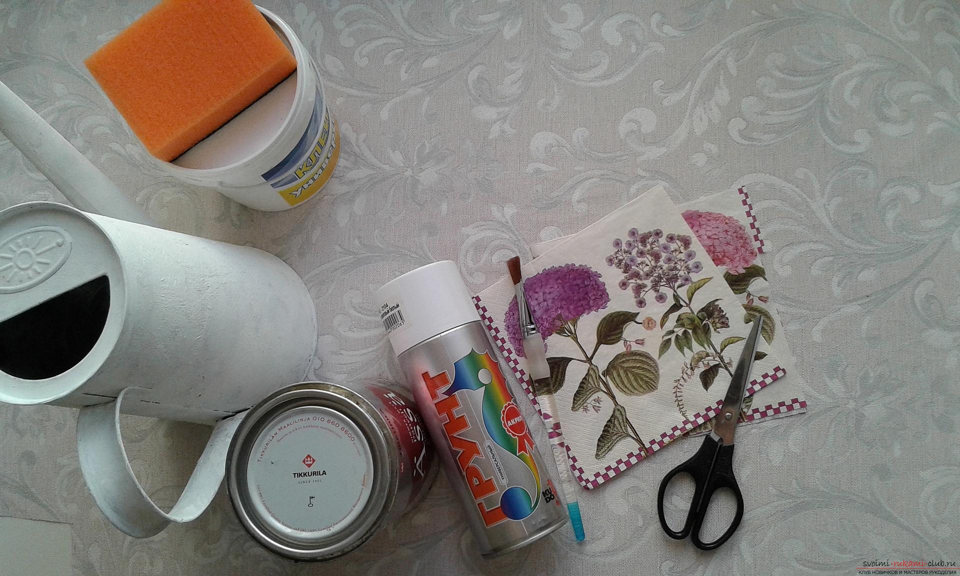 Как сделать декоративную лейку своими руками