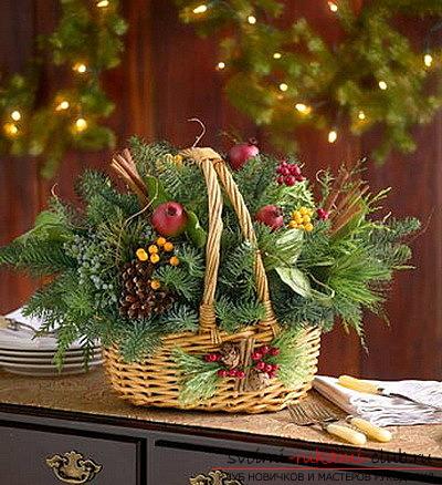 рождественская икебана. Фото №12