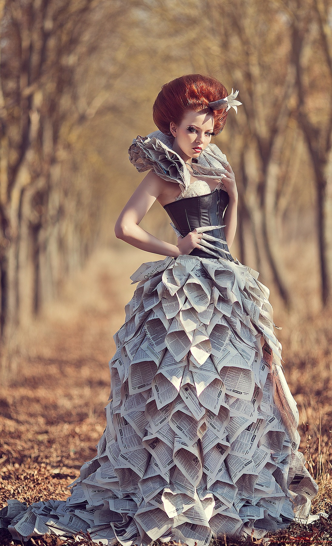 Платье газет мастер класс