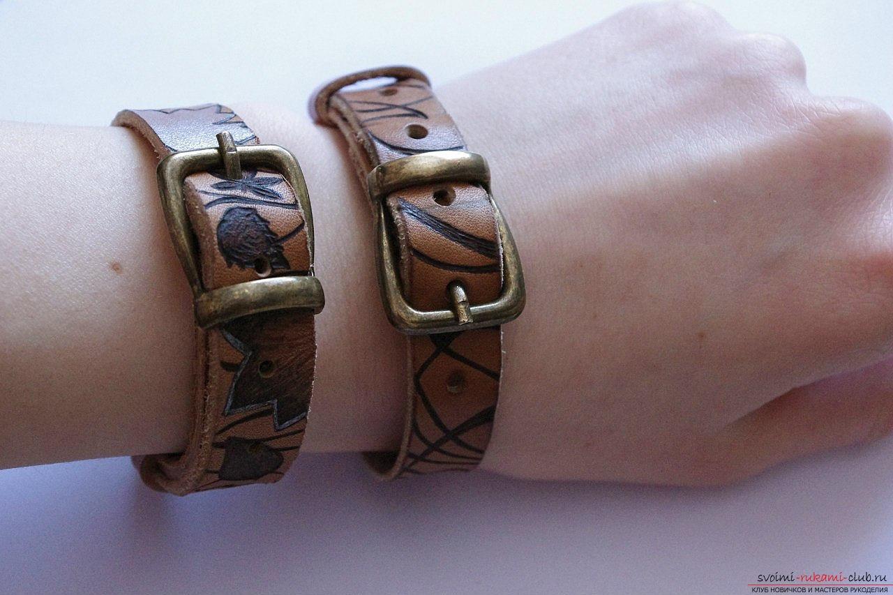 Как сделать кожаные браслеты своими руками 66