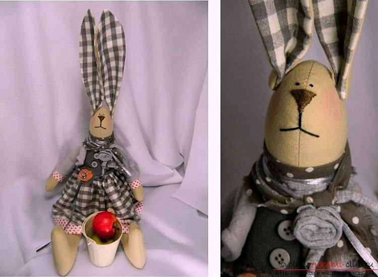Основы шитья кролика из ткани в стиле тильда