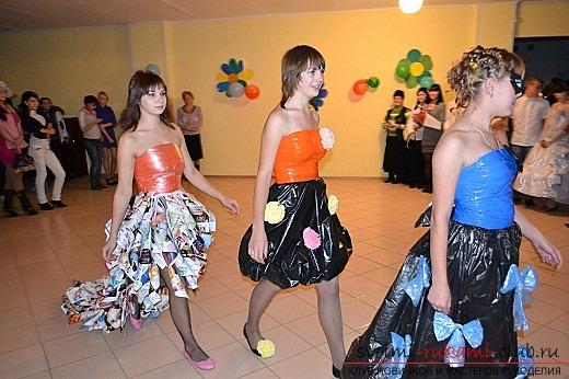 Платье из мусорных пакетов. Фото №3