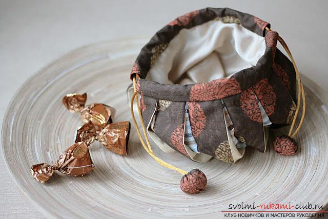 Изготовление японского мешочка омияге в стиле японского пэчворка. Фото №1