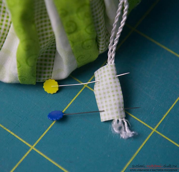 Изготовление японского мешочка омияге в стиле японского пэчворка. Фото №19