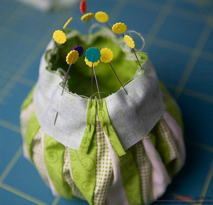 Изготовление японского мешочка омияге в стиле японского пэчворка. Фото №17