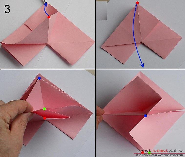 Как сделать розу из оригами своими руками