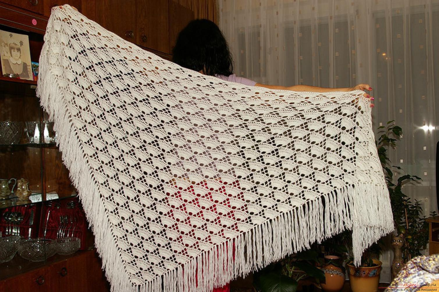 Шали Вязание крючком. Вязаные модели