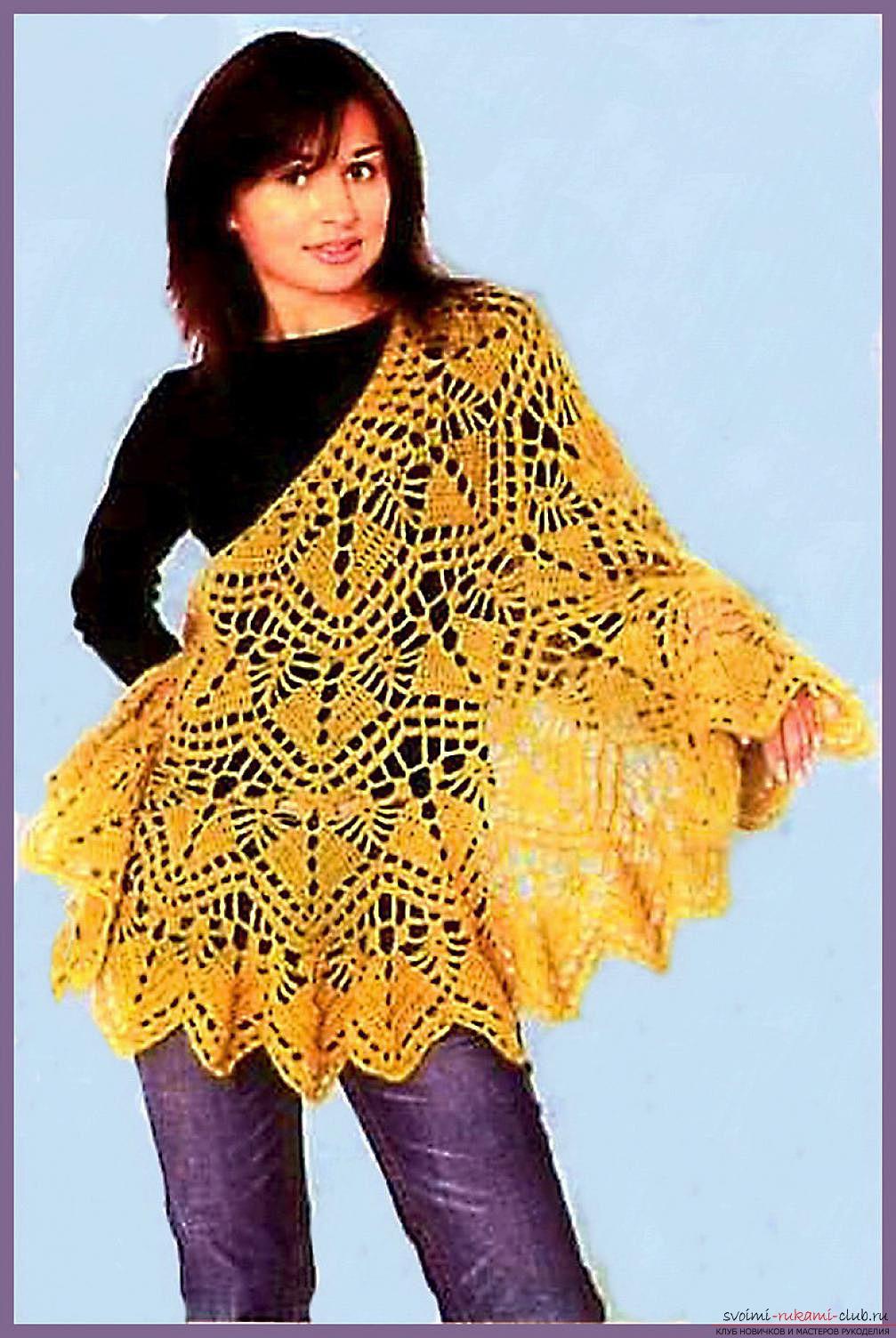 вязание ажурной шали схемы бесплатно