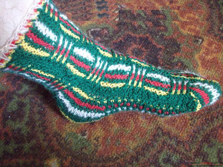 вязание носков крючком схема