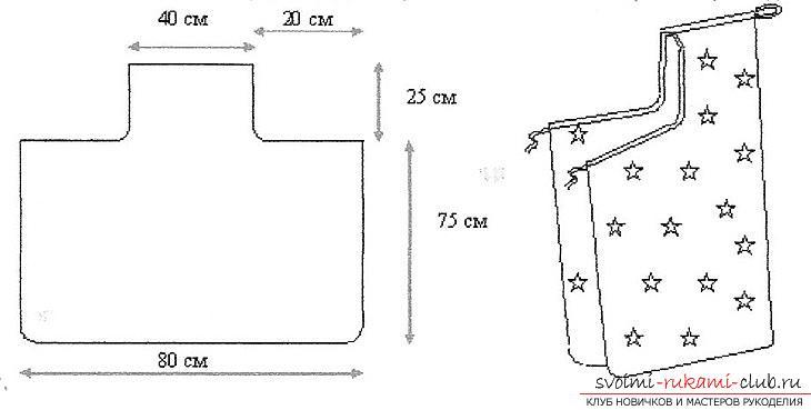 Выкройка пеленки с капюшоном для купания. Фото №2