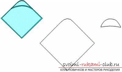 Выкройка пеленки с капюшоном для купания. Фото №3