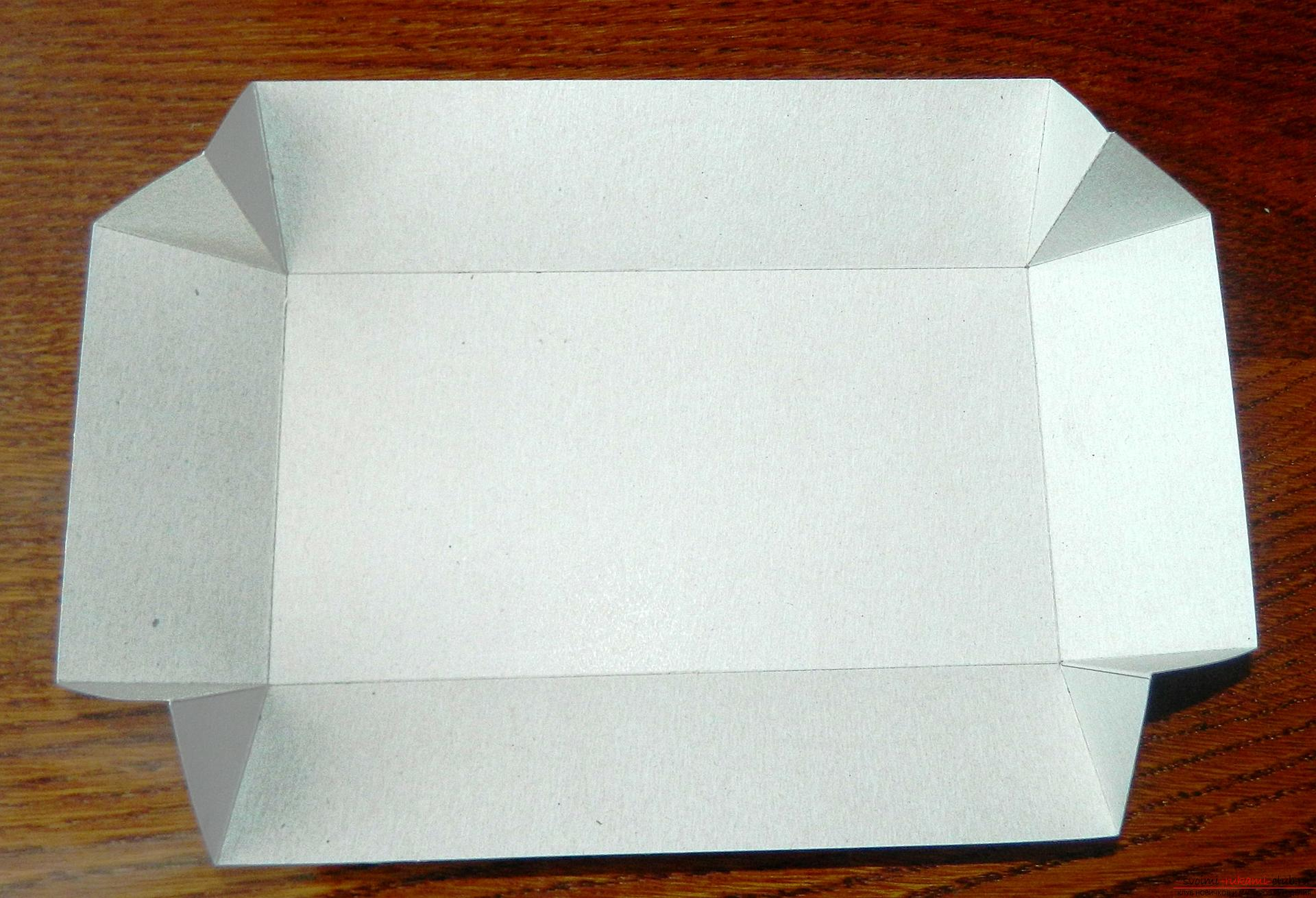 Как сделать коробку из плотного картона схема с крышкой